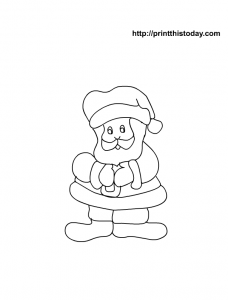 Cartoon Santa to Color