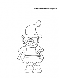 Elf coloring page for Christmas