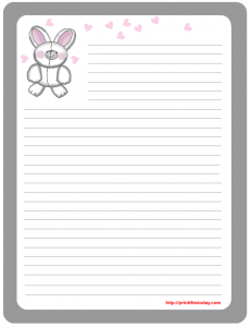Cute free printable Easter stationery
