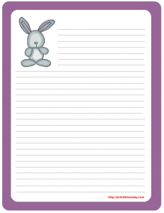 bunny note pad stationary
