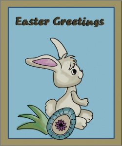 Easter card with Easter Greetings message
