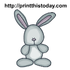 Cute and cuddly easter bunny rabbit