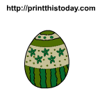 Beautiful easter egg with flowers image