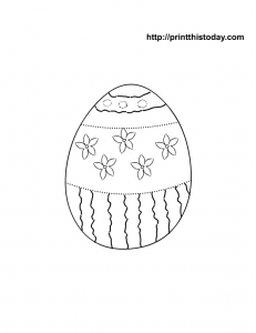 Free easter egg to color