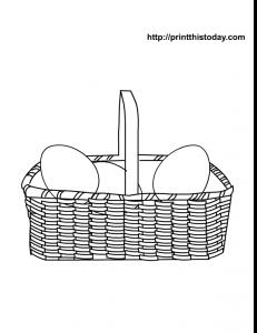 Free printable easter eggs basket
