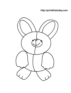 Free printable Easter bunny rabbit coloring page for kids