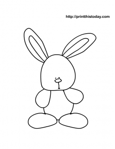 free printable easter rabbit