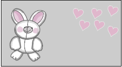 Cutest bunny and hearts