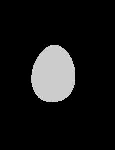 Basic Easter Egg stencil