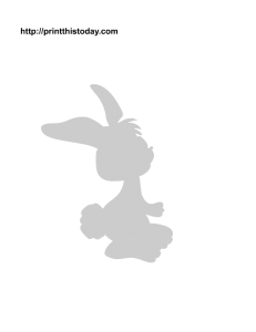 The cutest rabbit stencil