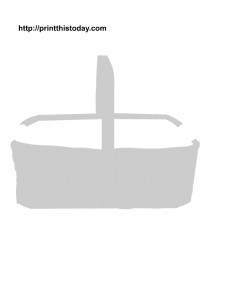 Free Printable Easter Basket Stencil