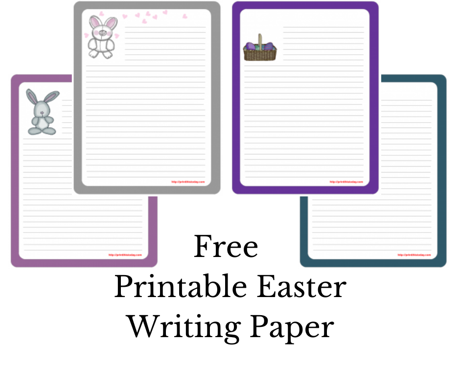 Free Printable Easter Writing Paper Stationery