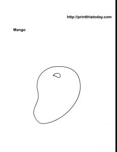 Color the Fruit Mango