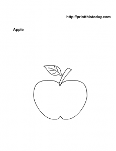 Free apple coloring page for Kids