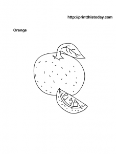 Kids coloring page free Orange