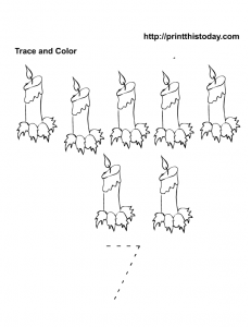 Number 7 Tracing and Coloring