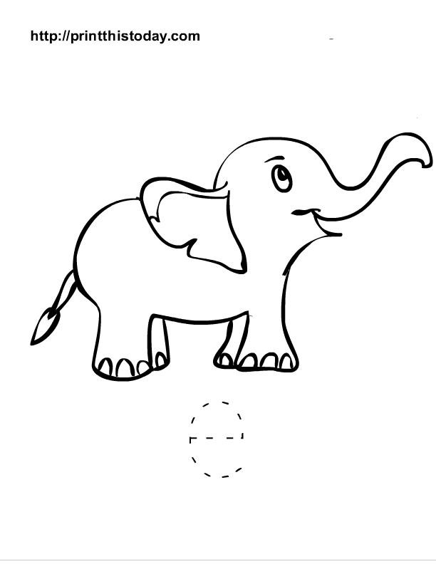 Free printable alphabet worksheets letter a i for Elephant template for preschool
