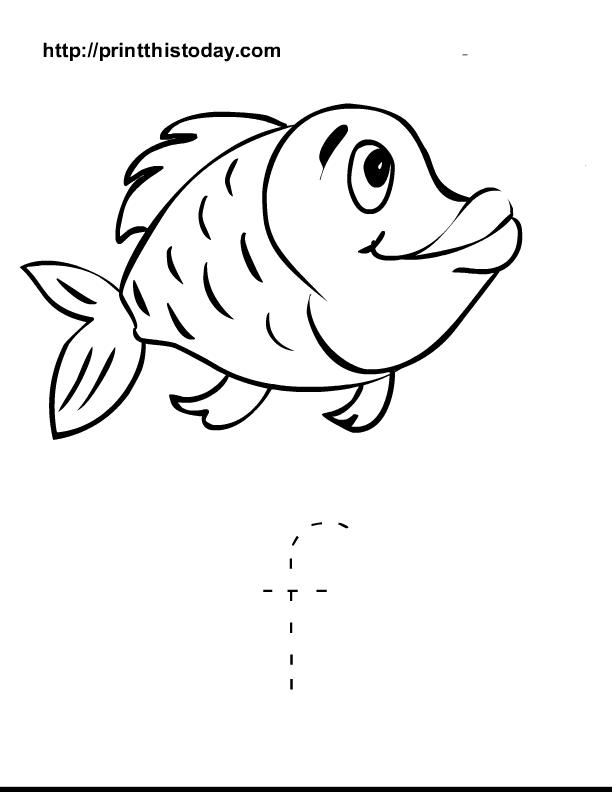 Free Printable Alphabet Worksheets Letter A I. Letter F And Fish Worksheet For Preschool Kids. Preschool. Letter F Worksheet Preschool At Clickcart.co