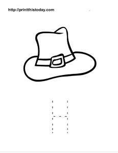 Upper Case letter H tracing sheet