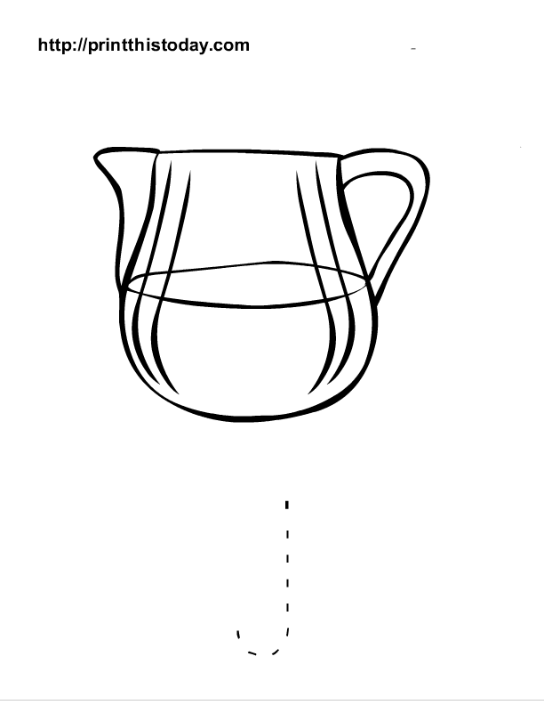 j for jug coloring pages - photo #29