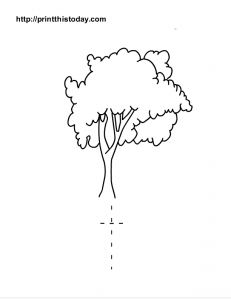 small letter t worksheet and tree to color