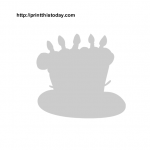 Birthday cake stencil printable