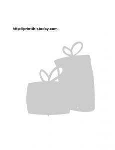 Birthday gifts stencil