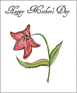 Happy Mother's day card with flower