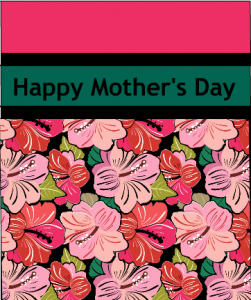 Colorful and fun happy mother's day card