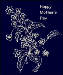 Mother's day card with flowers printable