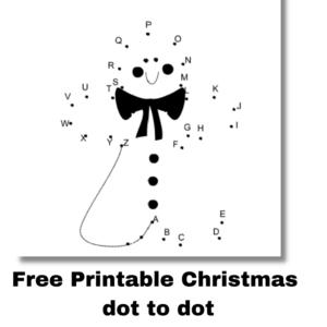 Free Printable Dot to dot activities for Christmas