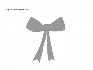 Christmas bow stencil