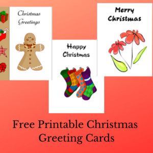 Free Printable Christmas Greeting Cards