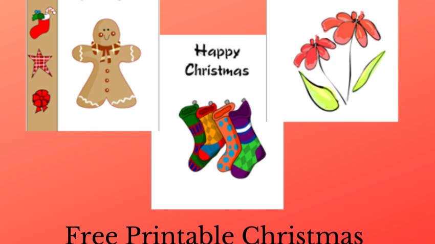 Free Printable Christmas Greeting Cards