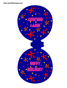 blue balloon paper craft for birthday