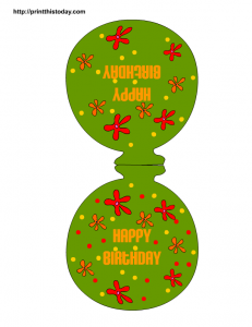 Birthday balloons paper craft decoration