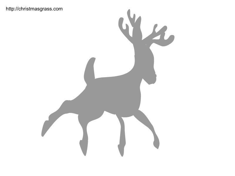 It's just a photo of Nerdy Reindeer Stencil Printable