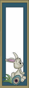 Cute easter bookmarks with rabbit