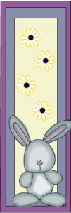 Cute bunny and daisies bookmarks