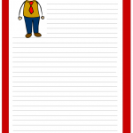 Father's day cartoon stationery