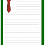 Shirt and tie, Free Printable Writing Paper