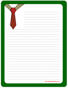 Cute shirt and tie letter pad printable