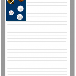 Sports balls stationery template
