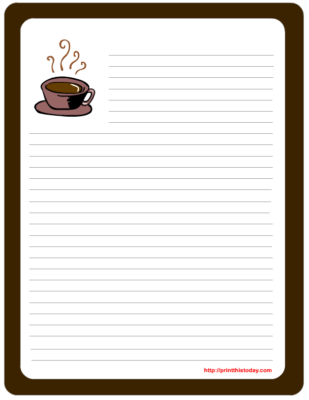 Letter pad, Note Pad Stationery Free Printables for Father