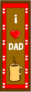 I love dad bookmarks