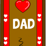 I love dad bookmarks