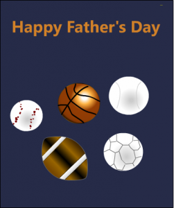 A card for sports lover dad