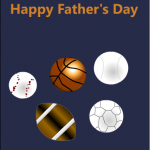 Fathers day card for sports lover dad