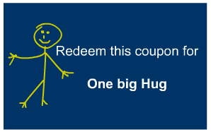 One big hug coupon for father's day