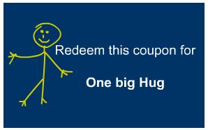 One big hug coupon for father's day